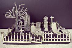 Le blog de Gabrielle Aznar: Le cimetière en papier ♦ DIY Papier Diy, Diy Paper, Decoration, Cemetery, Projects, Blog, Decor, Log Projects, Blue Prints
