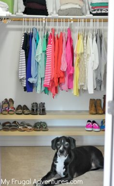 DIY Shoe Organization Racks (Ikea Hack!) Super simple floating shelves to organize your closet! Inexpensive and so easy to do!
