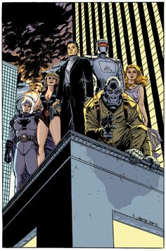 I did some work a couple of years ago on Agents of Atlas I did this Agents of Atlas piece as a sample to get more cover work from Marvel. Agents of Atlas - Benton Jew Marvel Heroes, Marvel Dc, Marvel Comics, Fiction Movies, Fan Fiction, Sub Mariner, Cg Artist, Deviantart, Superhero