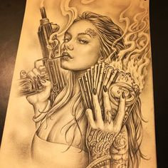 Arte Cholo, Cholo Art, Gangsta Tattoos, Tattoo Design Drawings, Tattoo Designs, Body Art Tattoos, Sleeve Tattoos, Chicano Style Tattoo, Chicano Tattoos Gangsters