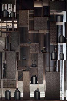 Shelving Design, Shelf Design, Cabinet Design, Wood Wall Design, Lobby Interior, Apartment Interior Design, Interior Architecture, Interior House Colors, Interior Design Studio