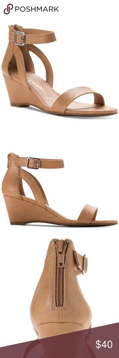 9f013d442ca Tan Wedge Sandal - American Rag A staple for dressy wardrobes