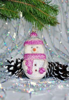 Snowman christmas ornament Holiday decor by HomemadeCraftIdeas