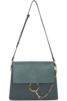 b9a76e71c60c 'Smooth' calfskin and suede shoulder bag in 'cloudy' blue. Detachable and