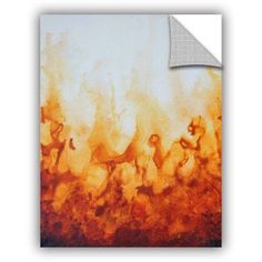 ArtAppealz Shiela Gosselin Amber Flame Removable Wall Art, Size: 24 x 32, White