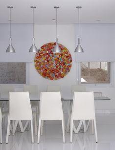 Uma decoração para relaxar. Veja mais:http://casadevalentina.com.br/projetos/detalhes/para-relaxar-e-recordar-563 #details #interior #design #decoracao #detalhes #decor #home #casa #design #idea #ideia #charm #charme #casadevalentina #diningroom #saladejantar