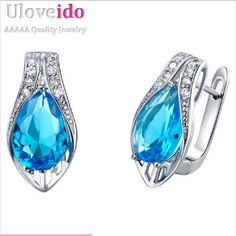 Find More Stud Earrings Information about Stud Earrings Women Silver Plated Crystal Jewelry CZ Diamond Pendientes Ruby Brincos Christmas Sapphire Aretes Bijoux Femme R419,High Quality earring women,China earrings nose Suppliers, Cheap earring magnetic from ULove Fashion Jewelry Store on Aliexpress.com