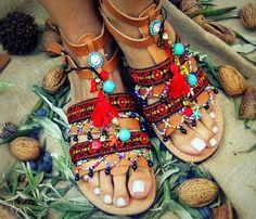 Astarti 3 Plus / Women Handmade Ancient Greek Leather Sandals / Ladies Summer Flat Shoes / Gladiator Spartan Flip Flops