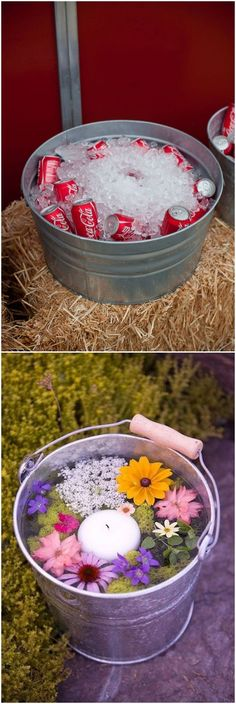 rustic country bucket wedding ideas #weddings #weddingideas #dpf #deerpearlflowers #countrywedding #country #rusticwedding / http://www.deerpearlflowers.com/rustic-buckets-tubs-wedding-ideas/