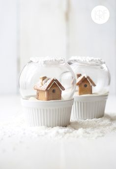 THE HOLIDAY SEASON: EDIBLE GINGERBREAD SNOW GLOBES | style-files.com | Bloglovin'