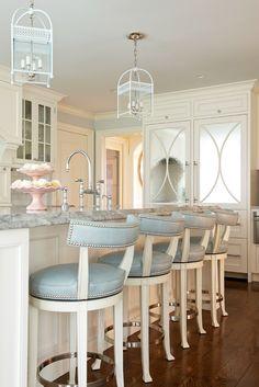 Morgan harrison home cool kitchens home decor house design modern white kitchen bar stools kitchen island . House Of Turquoise, Beautiful Kitchens, Cool Kitchens, Kitchen Stools, Kitchen Cabinets, White Cabinets, Counter Stools, Modern Cabinets, Home Decor Kitchen