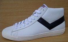 Kode Sepatu Pony Topstar Hi Leather White Black  9efed79f53