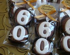 8 Milk Chocolate 60th Oreo Cookie Favors Number Sixty Birthday Party Favors Celebration Anniversary