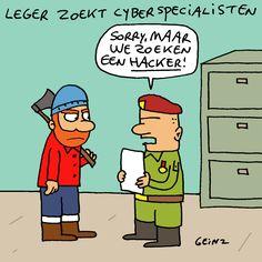 Het Belgisch leger zoekt cyberspecialisten