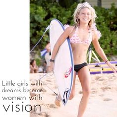 Little girls with dreams become women with #vision