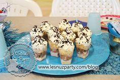 Mini shots de chocolate mesa dulce Frozen - Sweet table Frozen
