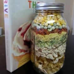 chicken noodle soup in a jar -- Layer in a 1 Qt glass jar: 1 1/2 cups Thrive Egg…