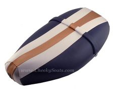 Vespa ET2 ET4 Scooter Seat Cover Copper Rally Stripe Waterproof | Scooter Seat Covers