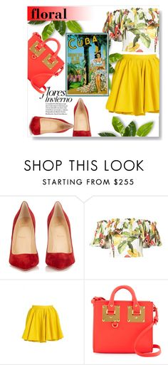 """""""floral"""" by rocio-martinez-1 ❤ liked on Polyvore featuring Christian Louboutin, Isolda, Merci Me London and Sophie Hulme"""