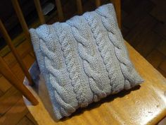 Ravelry: Knit Cable Pillow Pattern pattern by AOK Corral Craft and Gift Bazaar