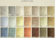 House Blend: Martha Stewart Living Paint Line Expands Metallic Gold Wall Paint, Gold Painted Walls, Gold Walls, Indoor Paint Colors, Room Paint Colors, Paint Colors For Living Room, Martha Stewart Paint, Paint Color Chart, Potters Clay