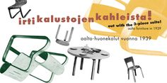 out with the 3-piece suite! aalto furniture in 1939  Alvar Aalto Museum Gallery 21.11.2014–18.1.2015