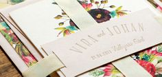 Letterpressed and digital printed invite by Pretty Paper, Sweden.