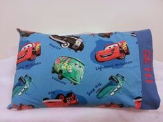 Cars Lightening McQueen Mater Themed TODDLER/TRAVEL Personalized Pillow Case - pinned by pin4etsy.com