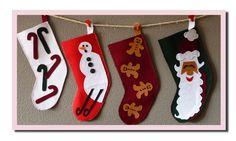 detalle calcetines navideños fieltro mamaenred.com