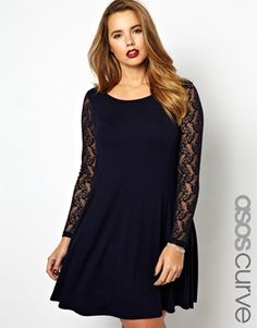 I love asos seriously! http://m.asos.com/mt/www.asos.com/ASOS-Curve/ASOS-CURVE-Exclusive-Swing-Dress-With-Lace-Sleeves/Prod/pgeproduct.aspx?iid=3313911=9577=1465=1970%2c1993=0=2=50=3=Red