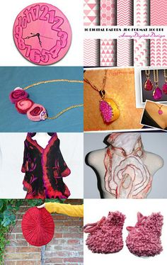 Shades of Pink by Susan Wilde on Etsy--Pinned with TreasuryPin.com