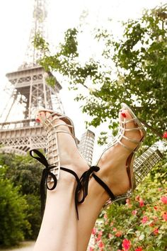 Seriously in LOVE !!! YSL sandals ...  On the heels Bucket List FOR SURE!!! >>> Along with a Spring visit to Paris for good measure! #ysl #spring #paris #france #eiffel_tower