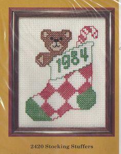 80s Stocking Stuffers Creative Circle Kit 2420 Counted Cross