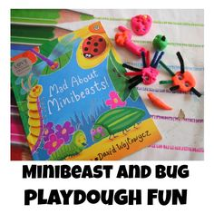 Bring the book Mad about Minibeasts by Giles Andreae and David Wojtowycz alive for kids with this fun invitation to play with play dough. Fun Activities For Kids, Fun Crafts For Kids, Emergent Literacy, Summer Fun For Kids, Kids Reading, Business For Kids, Toddler Preschool, Spring Crafts, Bugs