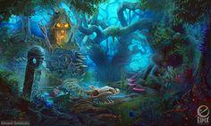 Swamp clearing - game scene by aleksandr-osm.deviantart.com on @DeviantArt