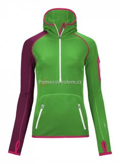 Green Dámská Termoprádlo Ortovox Merino Fleece Zip Neck Hoody W Absolute  Skins Oblečení 56b7432330