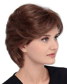 Meg Petite by Louis Ferre - Short Hair Styles Short Hair With Layers, Short Hair Cuts For Women, Short Hairstyles For Women, Short Haircuts, Front Hair Styles, Medium Hair Styles, Curly Hair Styles, Really Short Hair, Short Hair Wigs