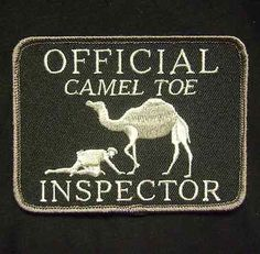 OFFICIAL CAMEL TOE INSPECTOR TACTICAL USA ARMY MORALE MILITARY SWAT VELCRO PATCH