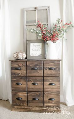 Natural & Simple Fall Home Tour with Farmhouse and Rustic Charm