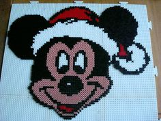 Christmas Mickey Mouse hama perler beads by Irma