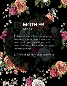 Mother's Day Gift // Definition of a Mother // Mackenzie McKinney Designs
