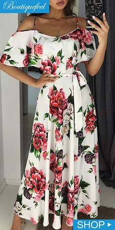 If you're looking for a three piece, strapless set look no further than this! Our on-trend set will add an instant style upgrade to your closet. Flowery Dresses, Cute Dresses, Casual Dresses, Fashion Dresses, Belted Dress, Ruffle Dress, Strapless Dress, Evening Dresses, Summer Dresses