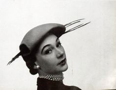 Hat by Rose Valois, photo by Georges Saad, 1951