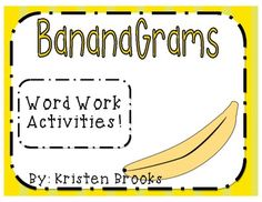 Banana Grams (Word Work Activities and Record Sheets) Fluency Activities, Grammar Activities, Word Work Activities, Reading Activities, Reading Tutoring, Reading Intervention, Teaching Reading, Guided Reading, Learning