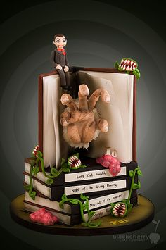 Little Cherry Cake Company - Goosebumps Manuscript cake