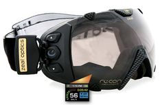 "Recon ""Transcend"" goggles: With GPS and a HUD you can protect your eyes in style. #Dynanim #GearGadgets"