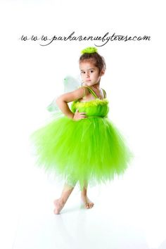 Tinkerbell tutu dress, wings, and head piece on Etsy