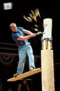 Be awed at the feats and skills performed at Lumberjack Feud in #PigeonForge.