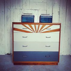 #Chestofdrawers #grey#midcentury MOD solid chest of drawers. #formica surface amazing #babychange unit! #Cavetsy #Etsy #etsymadelocal #etsymadelocalcardiff by thevintagewarestore