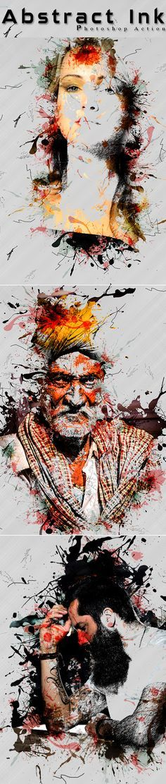 Abstract Ink Photoshop Action #digitalphotography #photoeffect #photoshopactions #tutorials